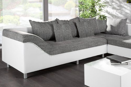 gro e couchgarnitur sultan in weiss. Black Bedroom Furniture Sets. Home Design Ideas