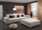 Big Sofa Webstoff - beige - Wohnbeispiel
