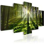 Bild Leinwand 5 Teilig Wald