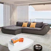 Polsterecke Sofa Kunstleder Webstoff