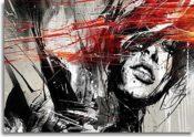 Kunstdruck Frau auf Leinwand 100x70cm Keilrahmenbild