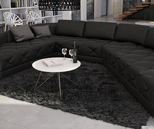 lounge sofa menexia in schwarz inklusive kissen. Black Bedroom Furniture Sets. Home Design Ideas