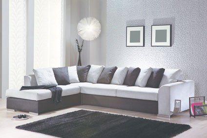 Sofaecke weiß grau