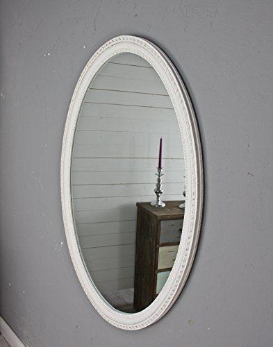 Elbmöbel Wandspiegel Groß Oval In Weiß