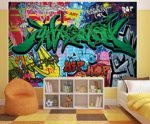 Poster Graffiti Wanddeko bunt