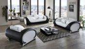 SAM® Design Garnitur Vigo 3 teilig weiß schwarz