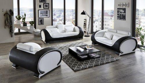 Sam Design Garnitur Vigo 3 Teilig In Weiß Schwarz