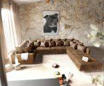 Sofa Clovis Wohnlandschaft XL Lederoptik