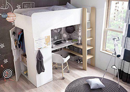 tom hochbett mit kleiderschrank und schreibtisch. Black Bedroom Furniture Sets. Home Design Ideas