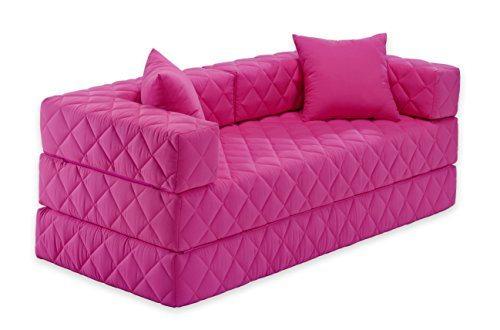 traumnacht schlafsofa mit 2 spitzkissen rosa. Black Bedroom Furniture Sets. Home Design Ideas