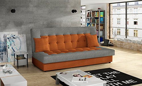 Modernes Schlafsofa Orange Grau