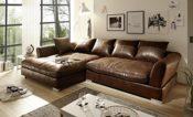 Sofa Wildlederoptik braun