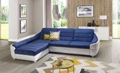 Polsterecke mit Schlaffunktion Sofa blau