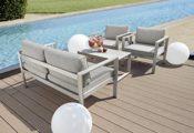 Ribelli 4 teilige Alu Lounge