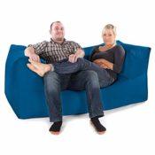 Zweisitzer Sofa Sitzsack blau