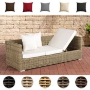 Luxus Poly Rattan Sofa hell