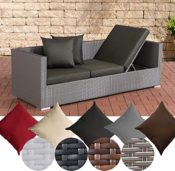 CLP flexibles Poly Rattan Sofa