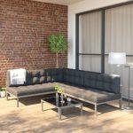 OSKAR Aluminium Sofa + Tisch