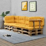 Euro Paletten-Sofa senf