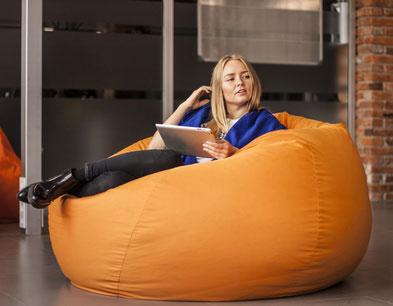 Sofa-Sitzsack Lederoptik
